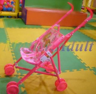 Foldable Baby Stroller for Kelly of Barbie with Detachable & Washable