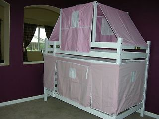 Cottage Kids Girl Pink Tent Set With Canopy For Twin Loft Bunk Bed