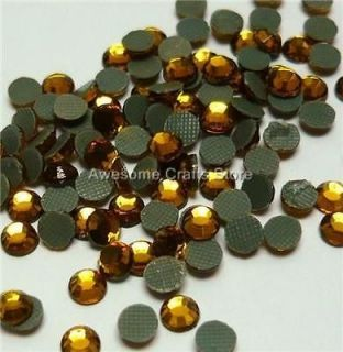 4mm SS16 TOPAZ Crystal Rhinestone Hot Fix Quality bright cover nails
