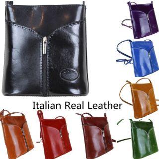 Vera Pelle Womens Cross Body Satchel Real Leather Shoulder Hand Bag