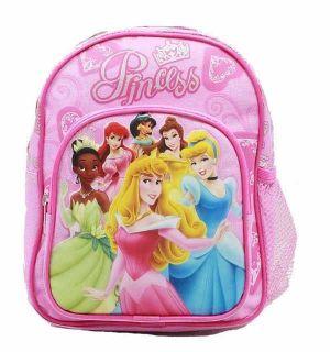 DISNEY NEW PRINCESS Heart & Crown Pink School Bag Anime Licensed