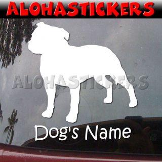 Custom STAFFORDSHIRE BULL TERRIER DOG Breed Car Vinyl Decal Window