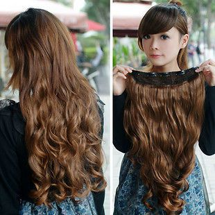 One Piece long curl/curly/wav y hair extension clip on 146