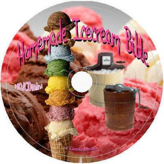 The Ultimate Ice Cream Makers Recipe Book on cd