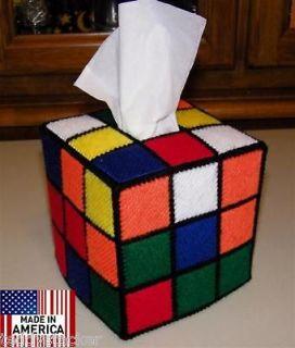 Rubik Rubiks Rubix Cube Tissue Box Cover Seen on Big Bang Theory Style