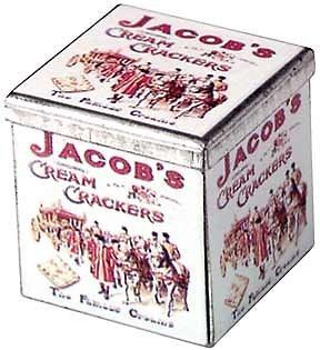 Jacobs Cream Crackers Collectable Tin   Dollhouse Mini