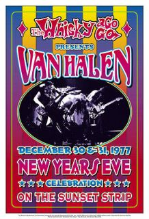 David Lee Roth & Van Halen at The Whisky A Go Go Concert Poster Circa