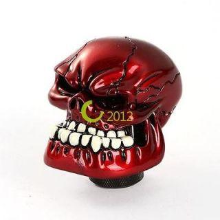 Universal Shiny Red Custom Human Skull Stick Shift Gear Shifter Knob
