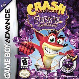 CRASH BANDICOOT PURPLE RIPTOS RAMPAGE NINTENDO GAME BOY ADVANCE GBA