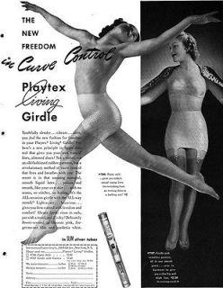 Girdle PANTY STYLE Seamless Garters CURVE CONTROL '44 Magazine Ad