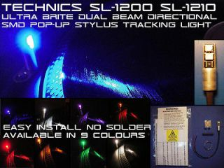 Technics SL 1200 SL 1210 Ultra Brite Dual Beam Directional SMD LED