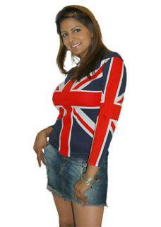 British flag Great Britain 3/4 sleeve juniors shirt SMLX
