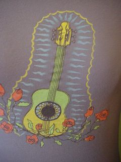 Old Navy acustic guitar folk mexican style day of the dead style