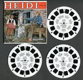 GAF View Master Reels and Booklet, HEIDI, #B425 N, Dutch/Belgian issue