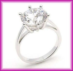 Carats 18K GP White Gold Plated CZ Wedding Ring Size 4,5,6,7,8,9,10