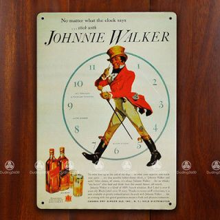 Tin Sign Wall Decor Retro Metal Art Poster Johnnie Walker Whiskey