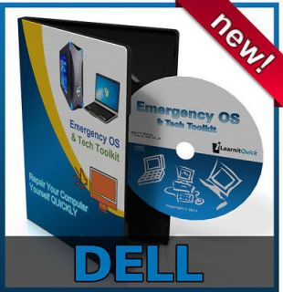 Dell XPS Laptop Repair Recovery Drivers Install Restore Rescue Disc