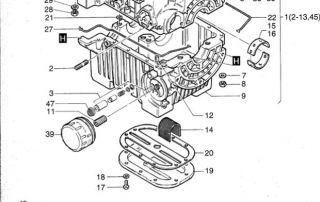 Hatz 2G30 diesel engine oil filter 7MC2A Davey Diesel