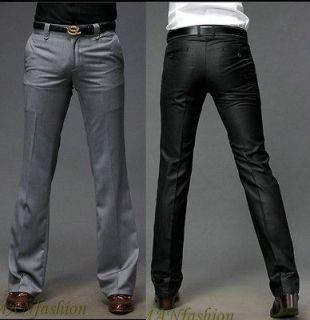 2011 new mens premium slim fit dress pants grey/Black