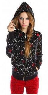 FDW Women New Abbey Dawn Avril Lavigne Cross My Heart Black Hoody