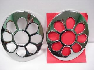 98 05 VW Beetle CHROME Daisy flower Tail Light covers (Fits
