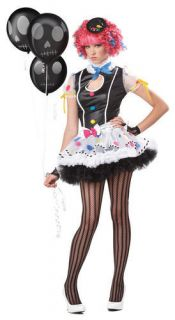 Sassie The Clown Katy Perry Candy Teen Girls Costume