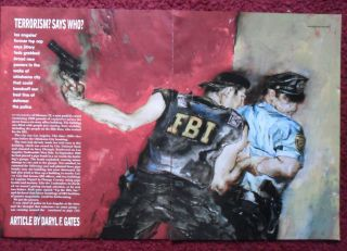 Magazine Article Terrorism? by David F. Gates w/ Kent Williams Art