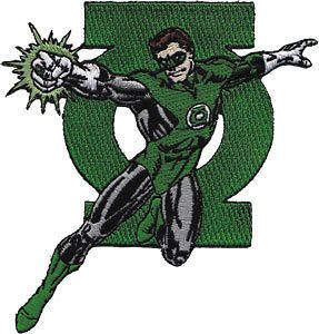 DC Comics Green Lantern With Logo Embroidered Iron On Movie Patch