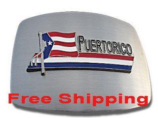 COOL PUERTO RICO RICAN PR BIG NATIONAL FLAG BELT BUCKLE BOUCLE DE
