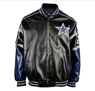 Dallas Cowboys Official NFL Post Game Leather Like Jacket S M L XL XXL