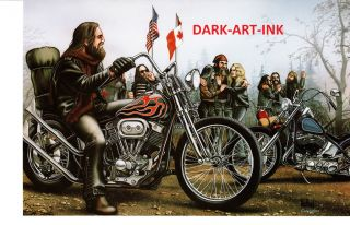 David Mann Art Canadian Brothers Print Easyriders Harley Davidson