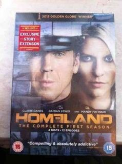 Homeland Season 1 DVD First Series One 1st Complete Box Set R2 *NEW*