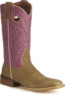 Rocky Womens 5036 NEW Del Rio Saddle Purple Tan Pink Western Boots 7
