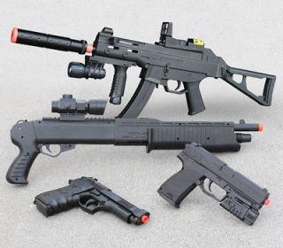 Airsoft Guns Rifle Shotgun Beretta Pistols Handgun w/ 1,000 Free BBs