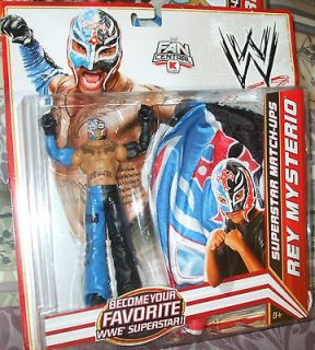 WWE REY MYSTERIO WITH FIGURE AND MASK BLUE BLACK & RED FITS YOUNG CH