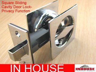 Cavity Sliding door Lock diamond turn  privacy function sq cp