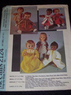 2124   12 ~ 16 HUGGUMS BABY DEAR ANGEL BABY DOLL PATTERN uc