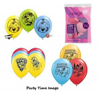 Latex BALLOONS Batman,Superman,Spiderman,Supergirl sets of 6 U select