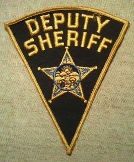 Vintage Ohio Deputy Sheriff Police Patch OH
