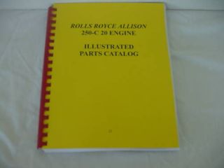 ROLLS ROYCE ALLISON 250 C20 ENGINE PARTS CATALOG 21