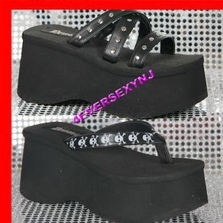 New DEMONIA Punk Goth Platform Sandals Shoes