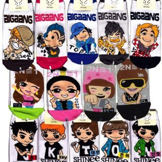 Bigbang, 2NE1, and Shinee socks One Pair Choose option