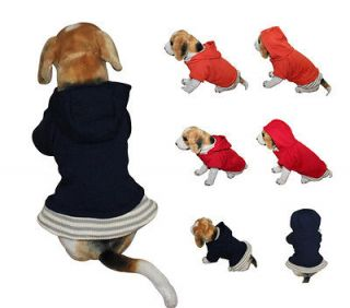 Navy Blue Dog Clothes Casual Basic Dog Hoodie Pullover Clothing S/M/L