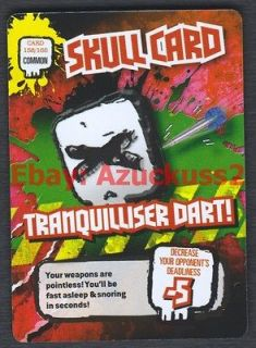 Tranquilliser Dart! Skull Card #158 Deadly 60 TCG Trade Card
