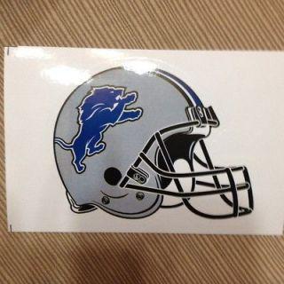 Detroit Lions NFL helmet sticker 3.5 x 4 die cut