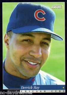 SCORE #68, 1993, DERRICK MAY, Chicago Cubs, w/ Hard Sleeve Cover