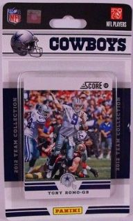 2012 Panini Score Dallas Cowboys Team Collection 12 cards NFL