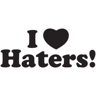 Love Heart Haters Vinyl Decal Car Window Sticker JDM ill fatlace