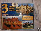 Deluxe Jigsaw Puzzles 2250 Total Pieces Assorted Designes & Sizes