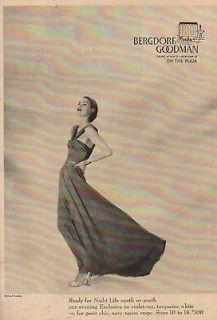 1947 Bergdorf Goodman Department Store NY~1940s Dress~Richard Avedone